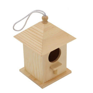 Wooden Bird House Nest Creative Wall-Mounted Wooden Outdoor Bird Nest Birdhouse Wooden Box Pet Supplies Accessories