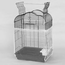 Load image into Gallery viewer, New Unique Soft Nylon Airy Fabric Mesh Bird Cage Cover Shell Skirt Seed Catcher Guard Bird Supplies Easy Cleaning Bird Supplies