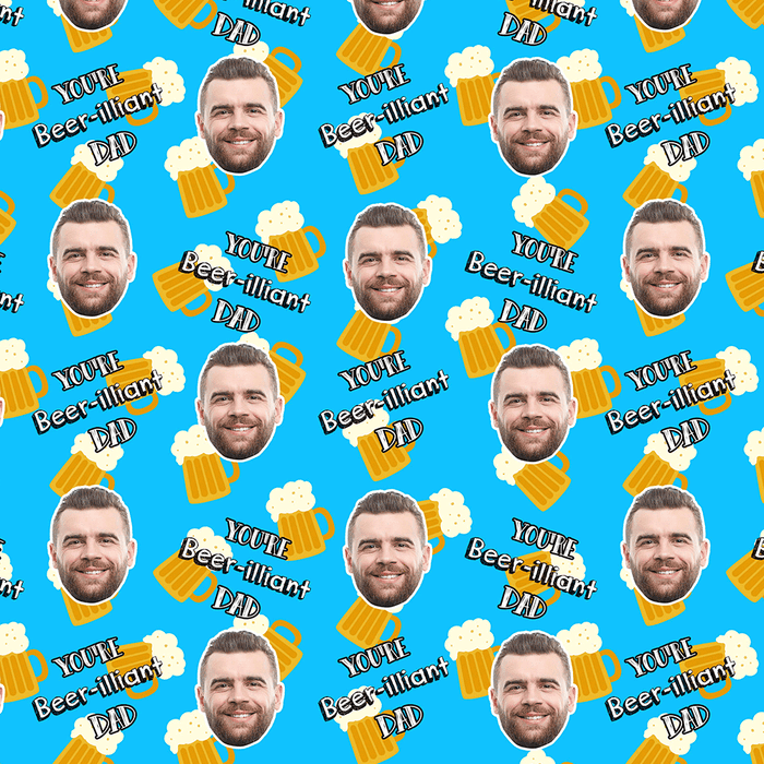 Beer-illiant Dad Wrapping Paper