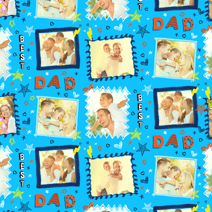 Best Dad Frame Wrapping Paper