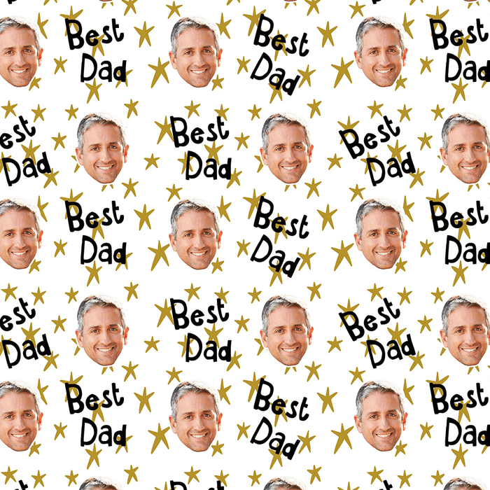 Best Star Dad Wrapping Paper