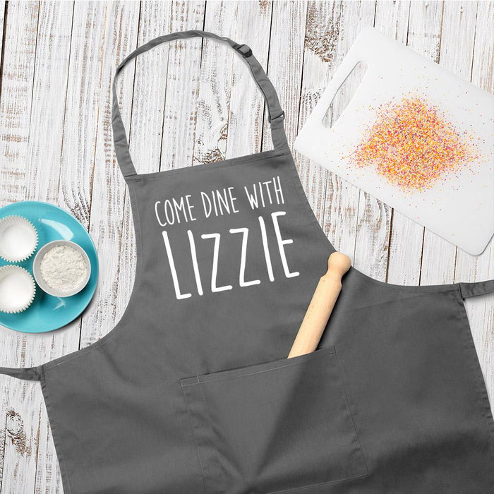 Personalised Come Dine With Apron