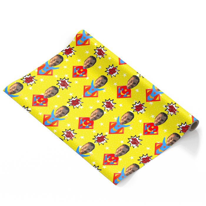 Hero Dad Wrapping Paper