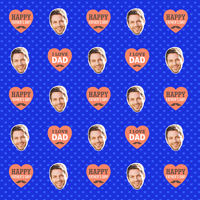 Dad Love Hearts Wrapping Paper