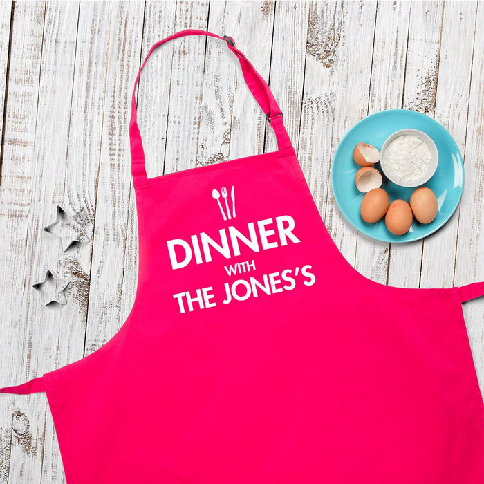 Personalised Dinner With Apron