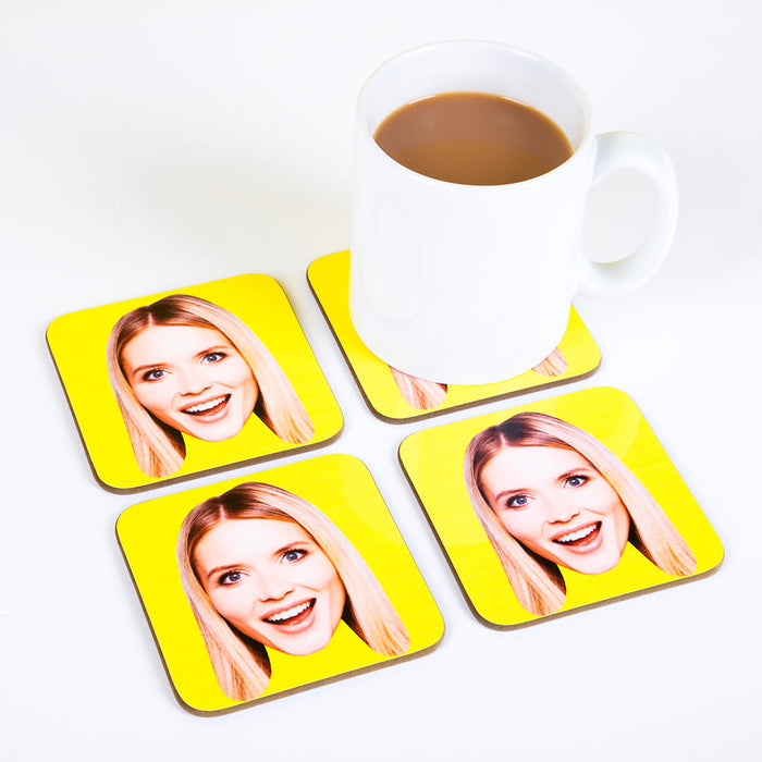 Coloured Face Coasters