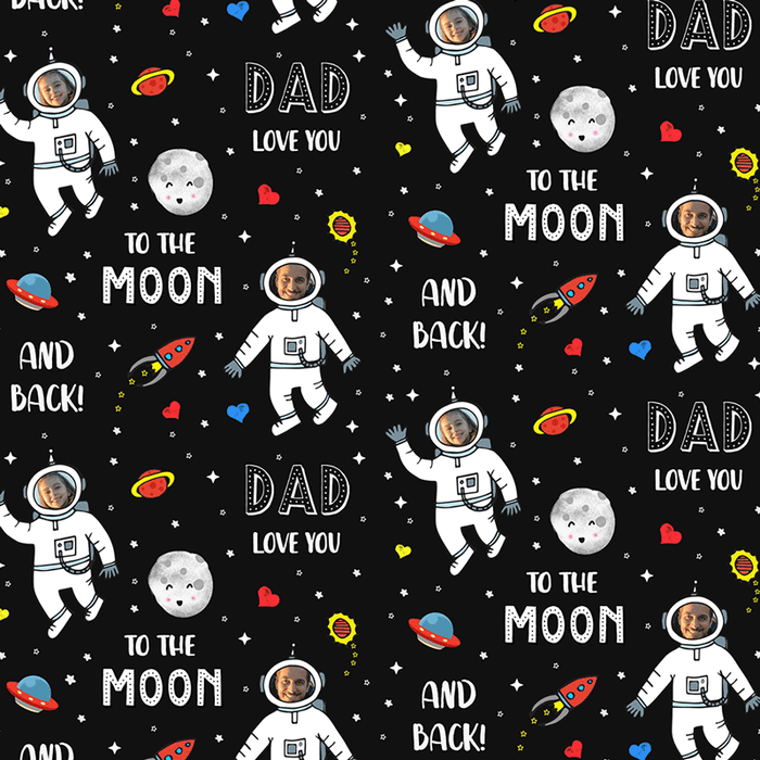 Love You To The Moon Wrapping Paper