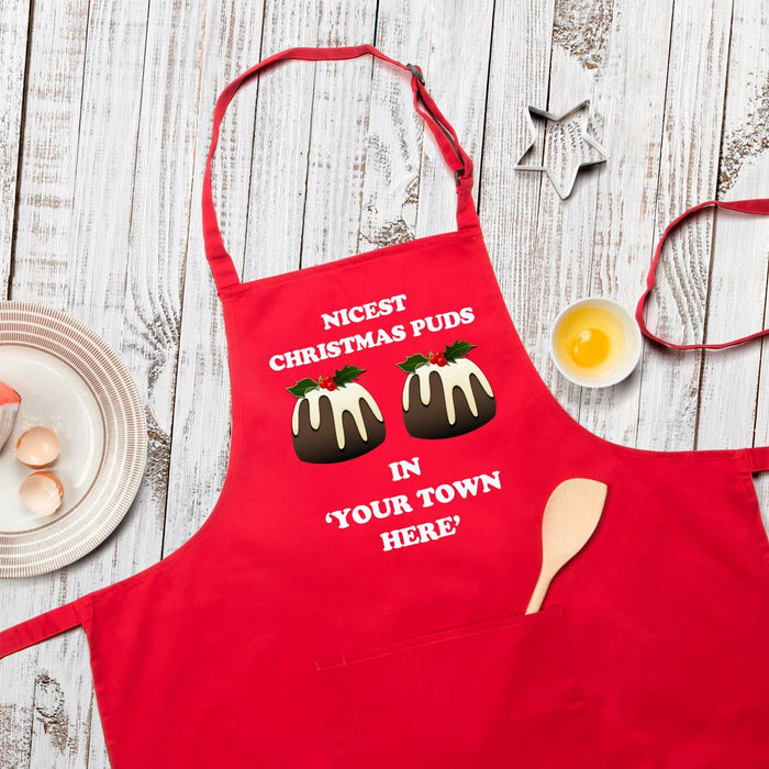 Nicest Christmas Puds Personalised Apron