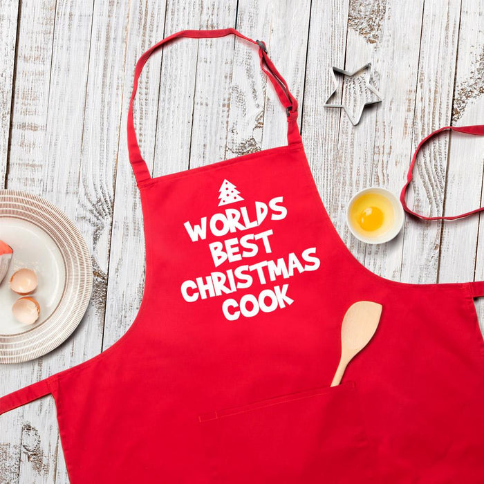 Worlds Best Christmas Cook Apron