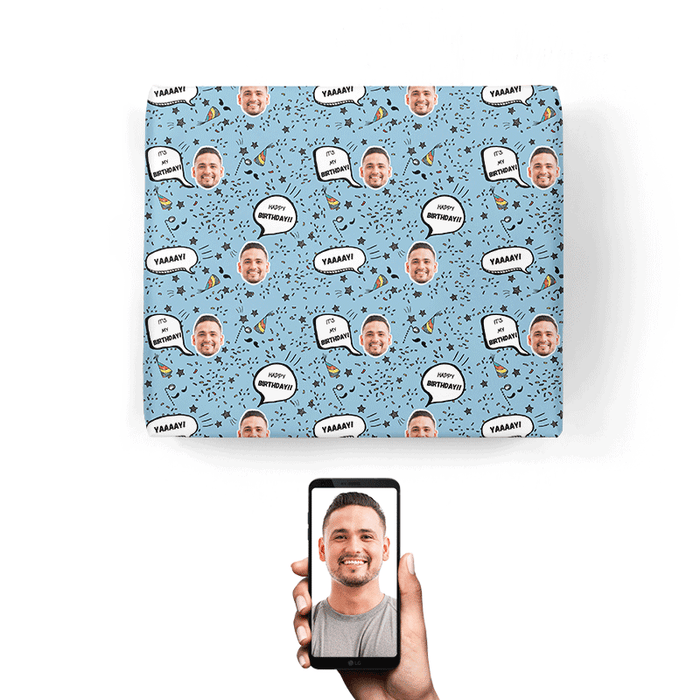 Birthday Speech Bubbles Wrapping Paper