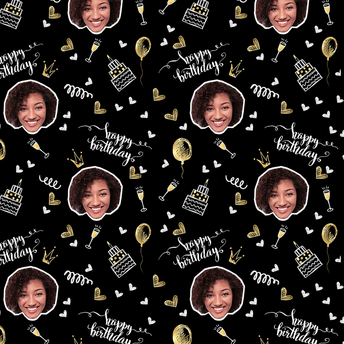 Birthday Champagne Wrapping Paper