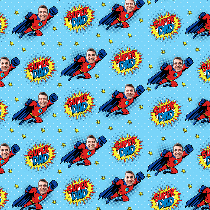 Super Dad Wrapping Paper