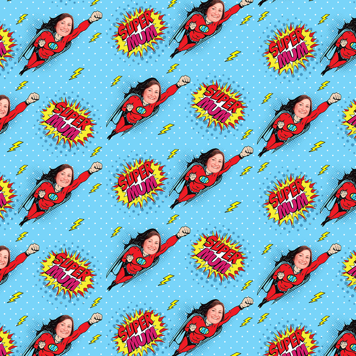 Super Mum Wrapping Paper