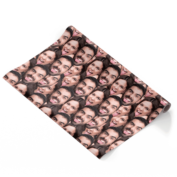 Couples Face Mash Wrapping Paper