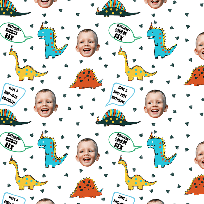 Birthday Dinosaur Wrapping Paper