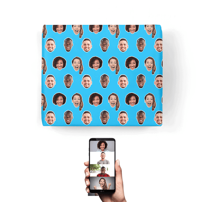 Friends Faces Wrapping Paper