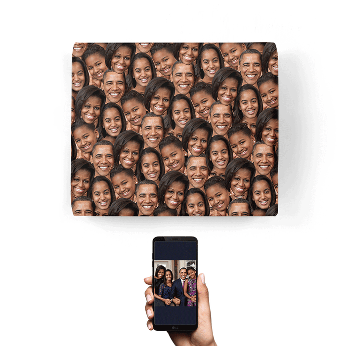 Family Face Mash Wrapping Paper