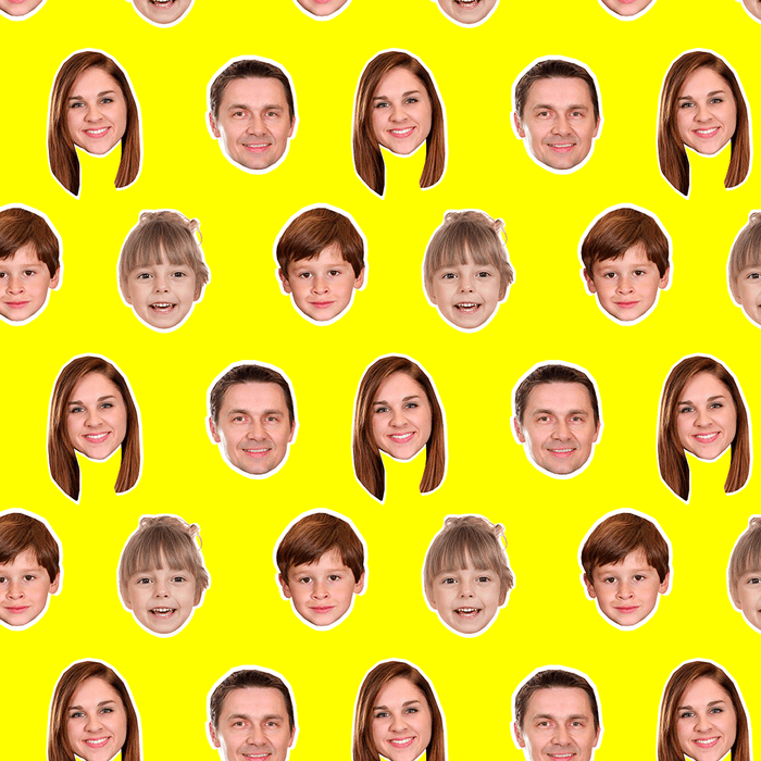 Family Face Wrapping Paper