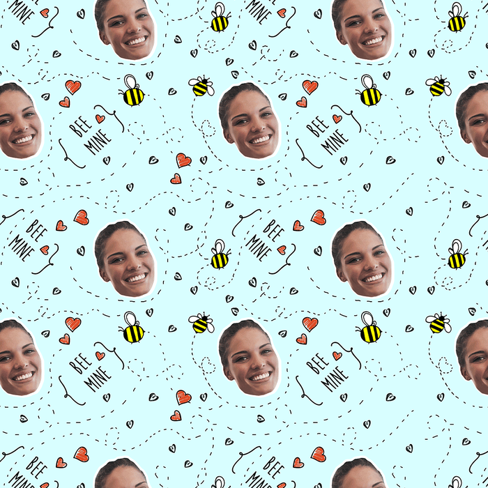 Bee Mine Wrapping Paper