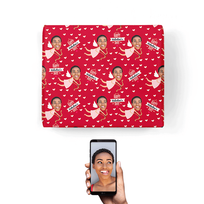 Cupid Girl Wrapping Paper