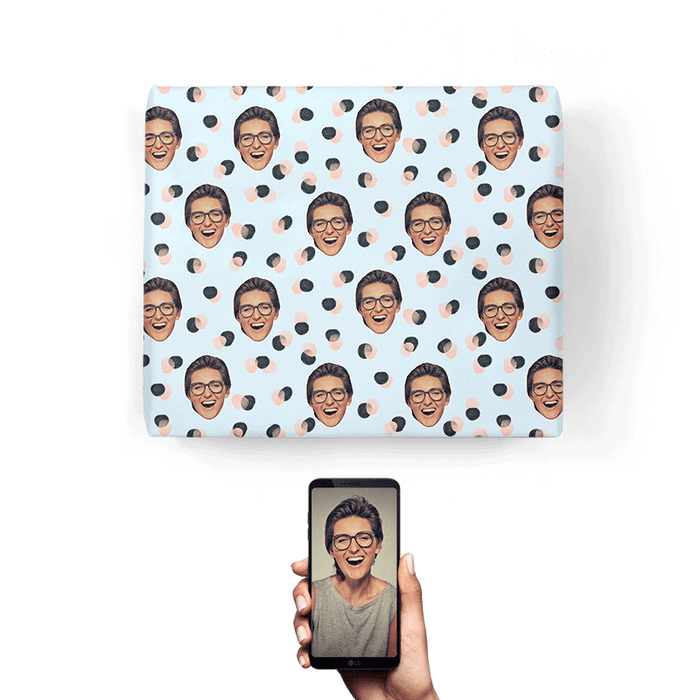 Your Face Spots Wrapping Paper