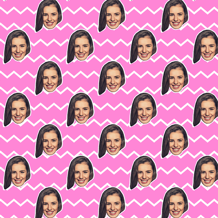 Your Face Zig Zags Wrapping Paper