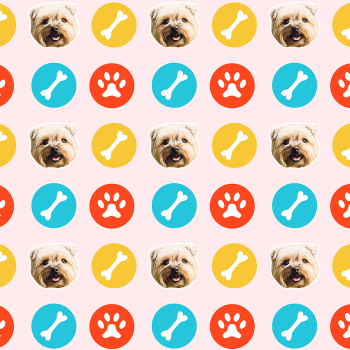 Dog Stickers Wrapping Paper