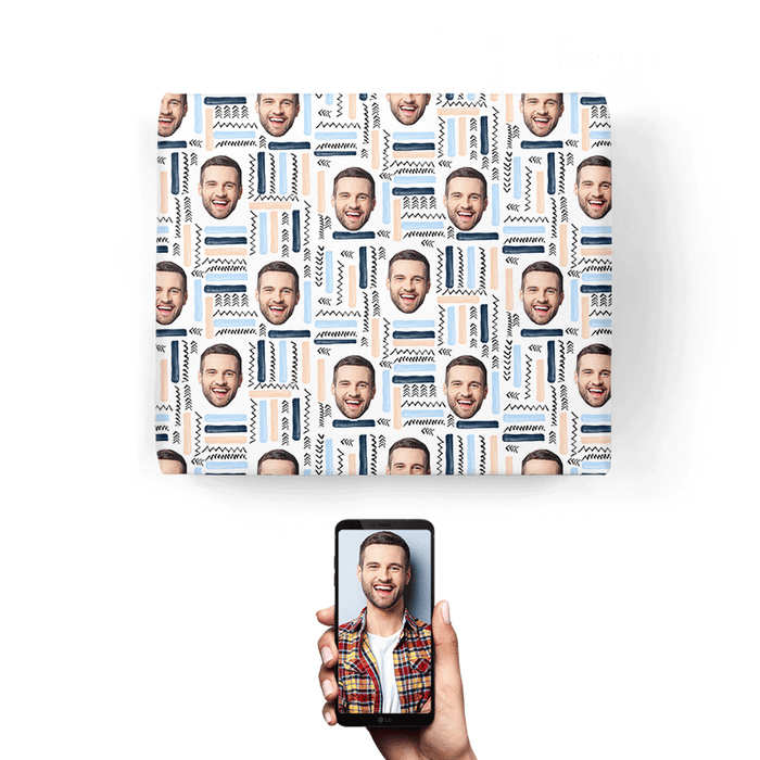 Your Face Abstract Wrapping Paper