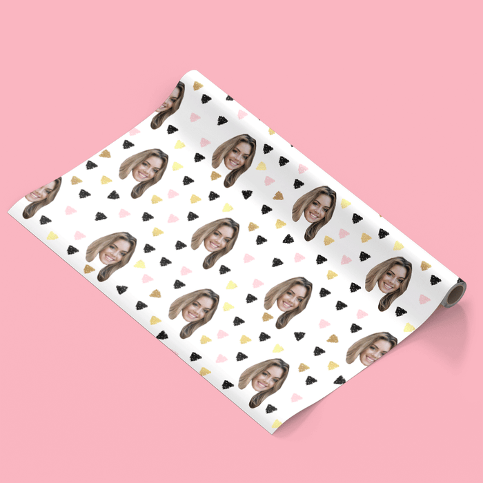Your Face Triangles Wrapping Paper