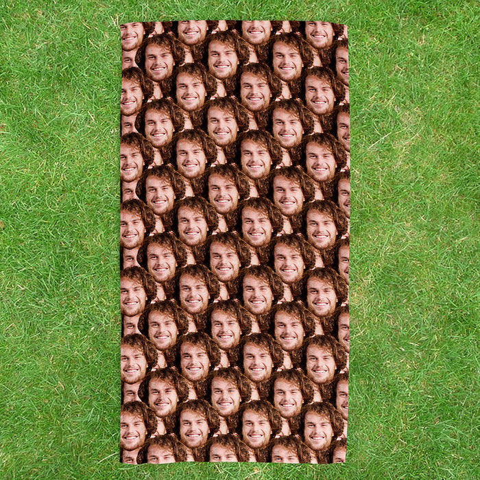 Face Mash Beach Towel