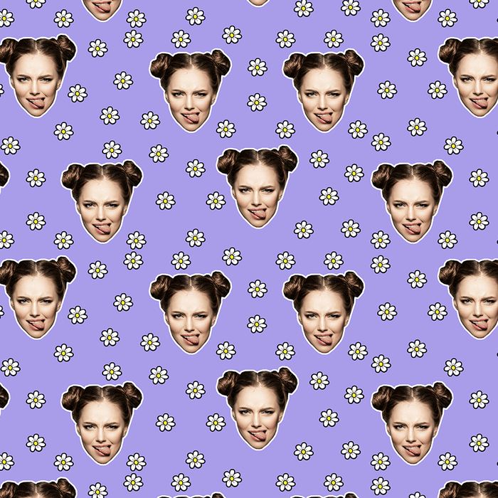 Your Face Daisies Wrapping Paper