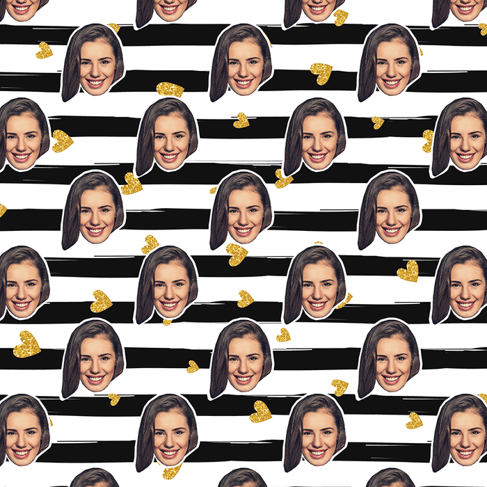 Your Face Stripes Wrapping Paper