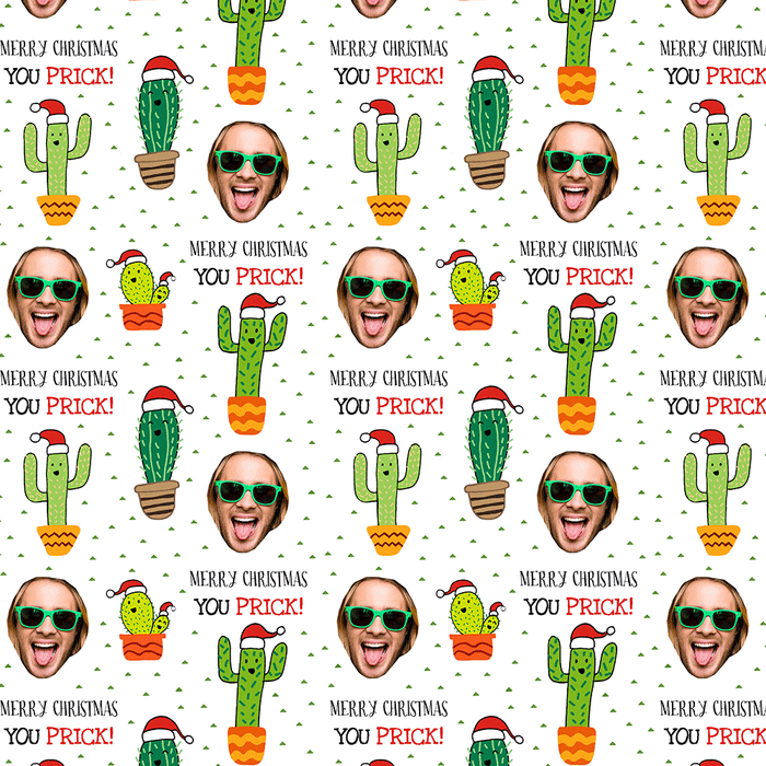 Merry Christmas Cacti Wrapping Paper