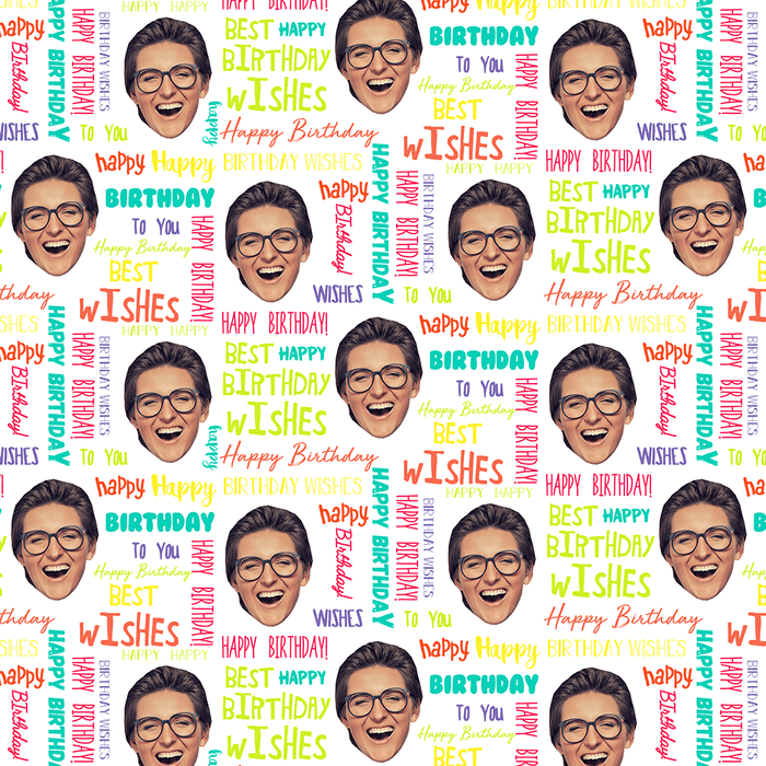 Birthday Text Wrapping Paper
