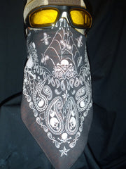 Biker Motorcycle Face Mask ,  REBEL SHAPED with  NO Vent