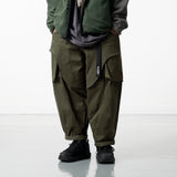 OSLP066 Hidden Pocket Twill Balloon Pants (Green)