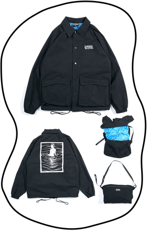 OSCJ003 Wearable Bag Coach Jacket (Black)
