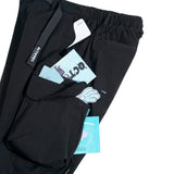 OSLP064 Snap Flap Cargo Pockets Pants (Black)