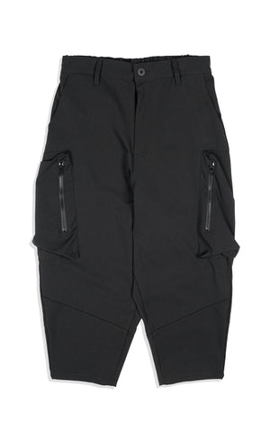 LP084 Rectangular Zippered Orb Pants (Black)