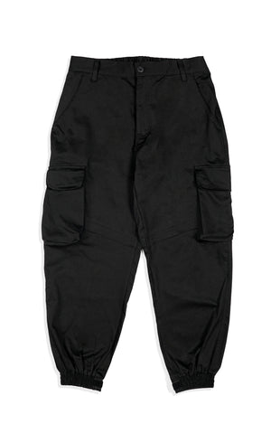 OC024 7 Pocket Cargo Jogger Pants (Black)