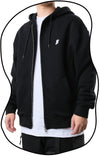 PRHD002 440G Heavy-Weight Zip-up Hoodies (Black)