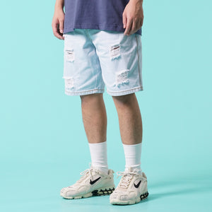 S030 Denim Shorts (Light Blue)
