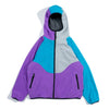 SJ020 Color Block Reversible Fleece Jacket (Purple)