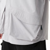 ST040 Oversized Bellow Pocket Shirt (Grey)