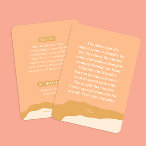 Affirmations to Guide Your Journey Box Card Set