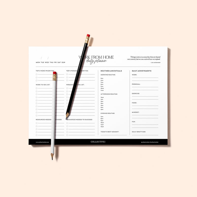Work From Home Planner Notepad