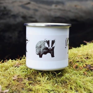 Three Badgers Enamel Mug