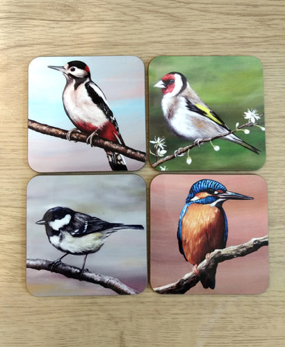 Set of 4 British Bird Coasters