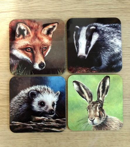 Set of 4 Wildlife Coasters