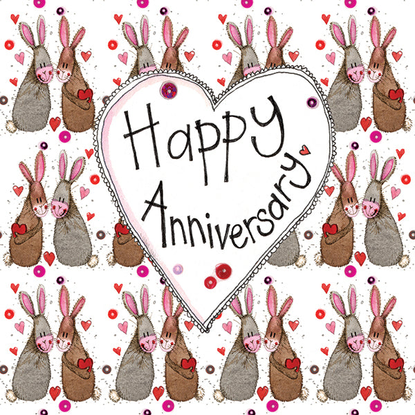 Anniversary Bunnies Greeting Card